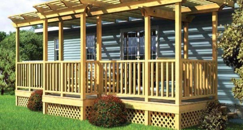 Front Deck Designs Mobile Home Porches Decks Plans