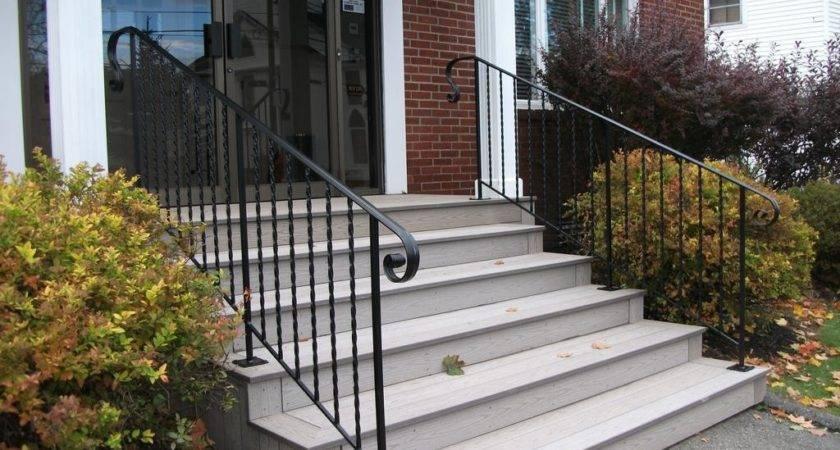 Front Entrance Concrete Designs Steps Design Ideas