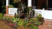 Front Flower Bed Ideas Photograph Porch