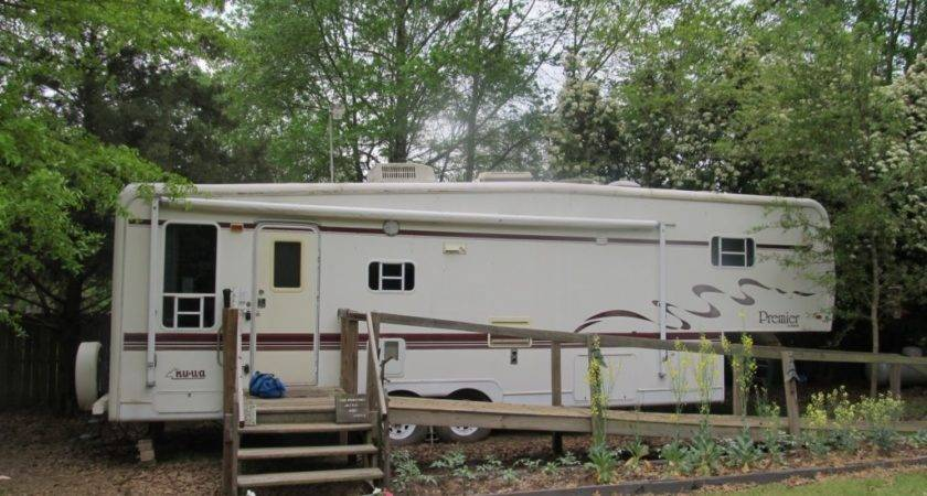 Front Home Sweet Fifth Wheel Trailer