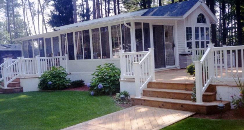 Front Porch Decks Mobile Homes Home Design Ideas