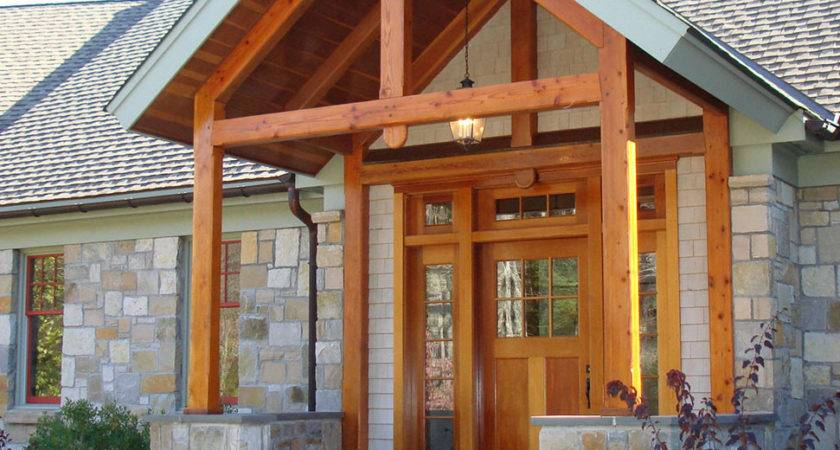 Front Porch Design Idea Rustic Timber Frame Home Plan