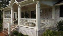 Front Porch Plan Single Level House Ideas