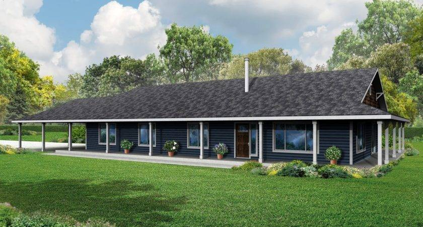 Front Porch Plans Ranch House