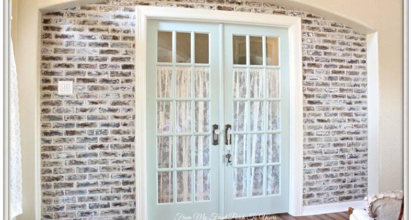 Front Porch Yours Diy Faux Brick Wall Tutorial