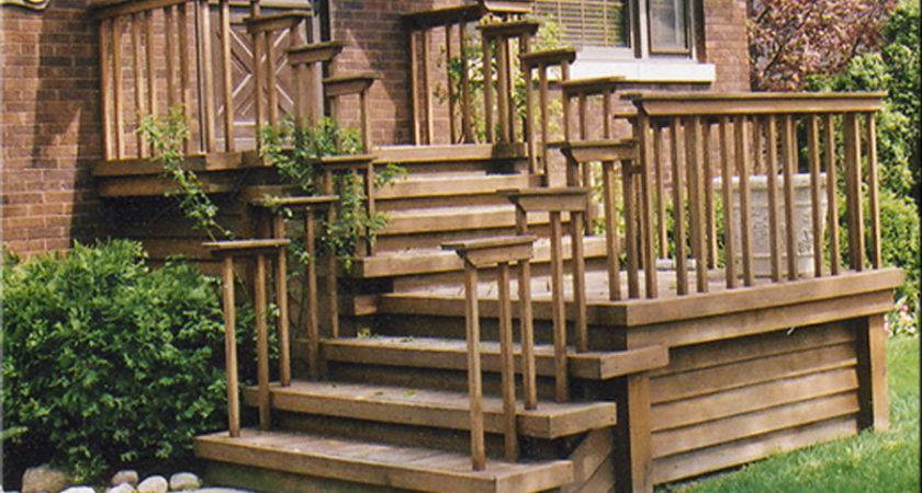 Front Wood Steps Deltac Porches Decks Patios Html Tierra