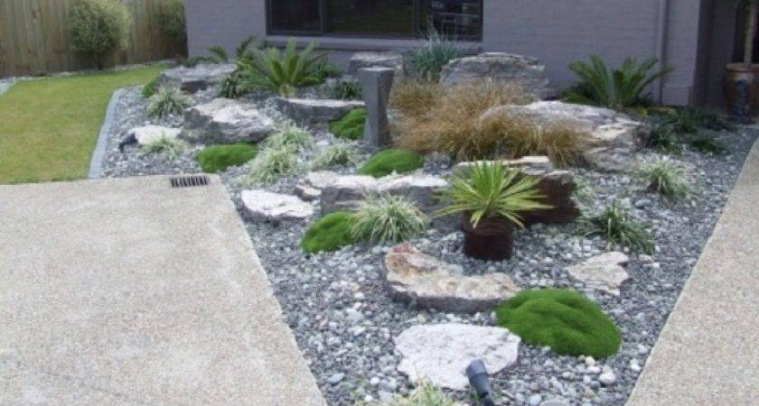 Front Yard Landscape Ideas Rocks Rock Garden Small