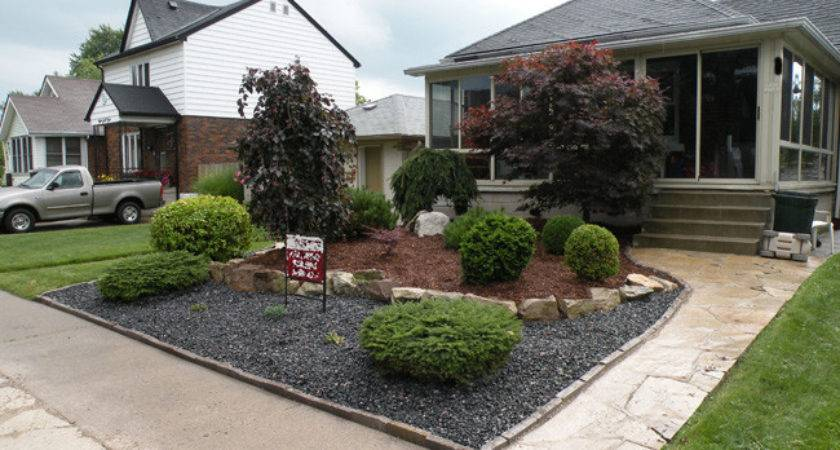 Front Yard Landscaping Ideas Rocks Next