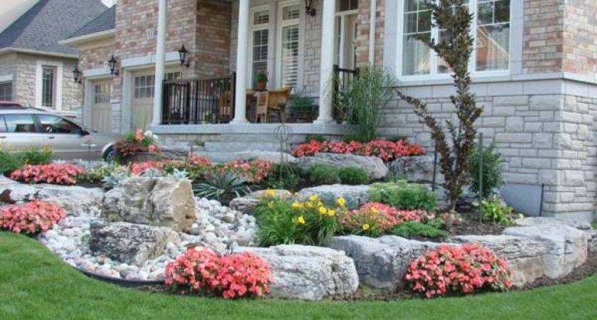 Frontyard Landscaping Great Rock Ideas Front Yard