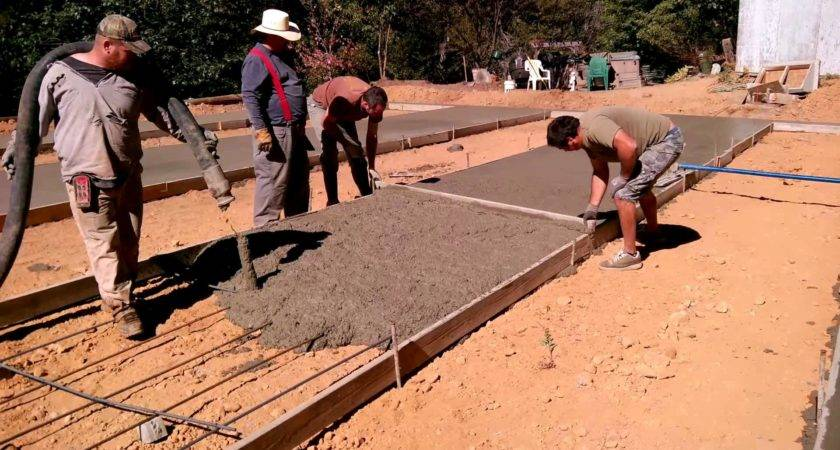 Fry Construction Manufactured Home Concrete Foundation