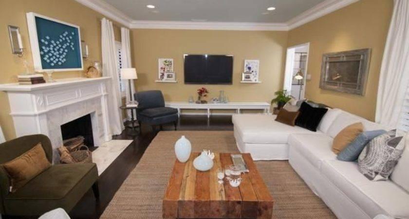 Furniture Arrangement Rectangular Living Room