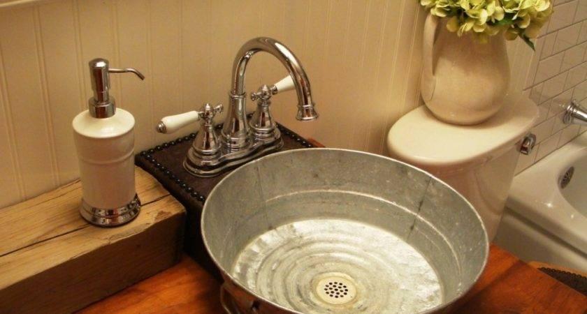 Galvanized Bathroom Sink Hometalk