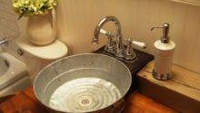 Galvanized Tub Sink Bathroom Craftsman