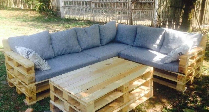 Garden Furniture Made Pallets Pallet Idea