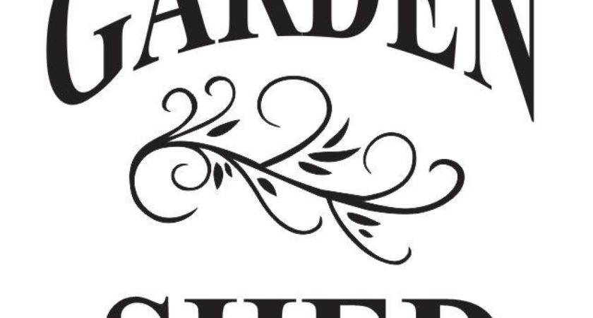 Garden Stencil Shed Primitive Vintage Shabby