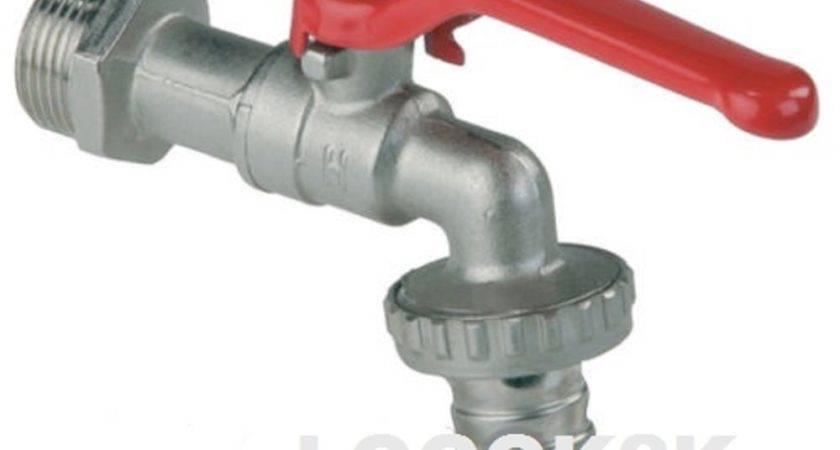 Garden Water Tap Lever Type Ball Valve Red
