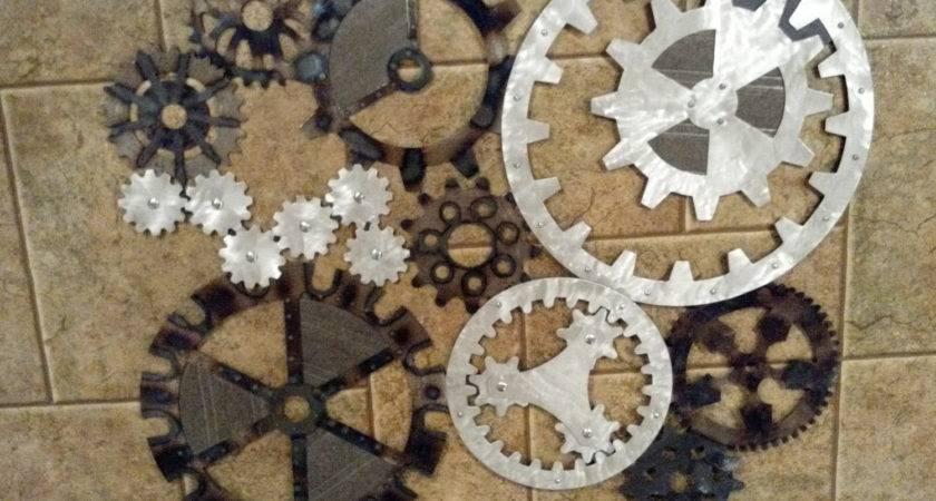 Gears Art Industrial Steampunk Wall Decor Made Order