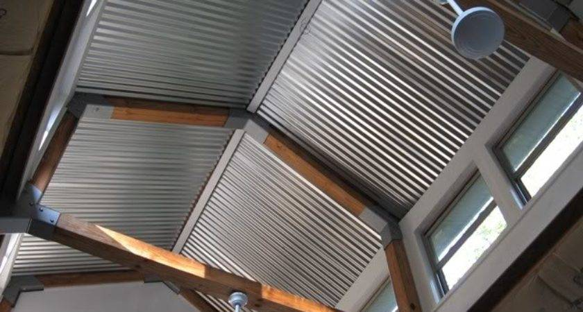 Gentry Joint Project Corrugated Steel Ceilings
