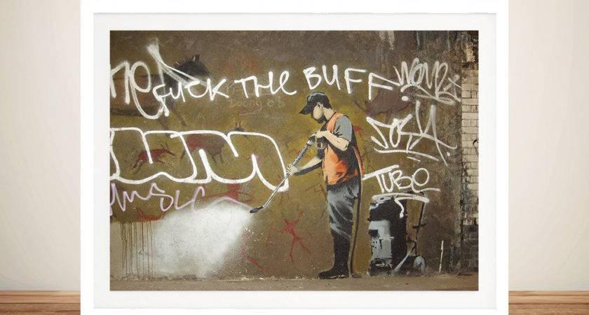 Getting Off Wall Banksy Framed
