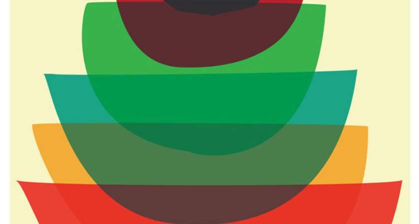 Giclee Bowl Stack Mid Century Modern Kitchen Art Print