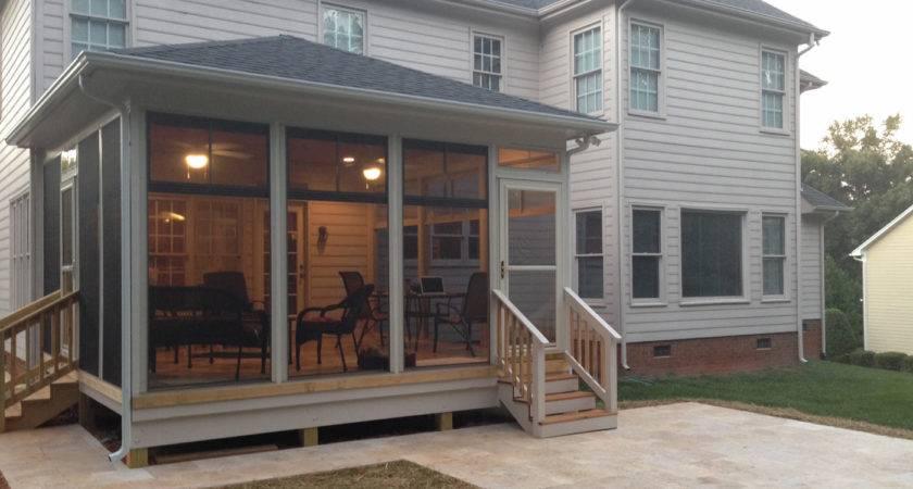 Glass Windows Screened Porch Ideas