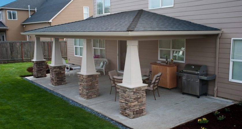 Good Looking Backyard Covered Patio Design Ideas