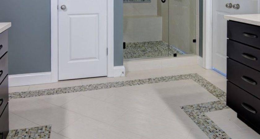 Good Looking Tile Flooring Gray Walls Bathroom