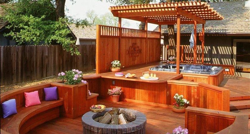 Gorgeous Decks Patios Hot Tubs Diy