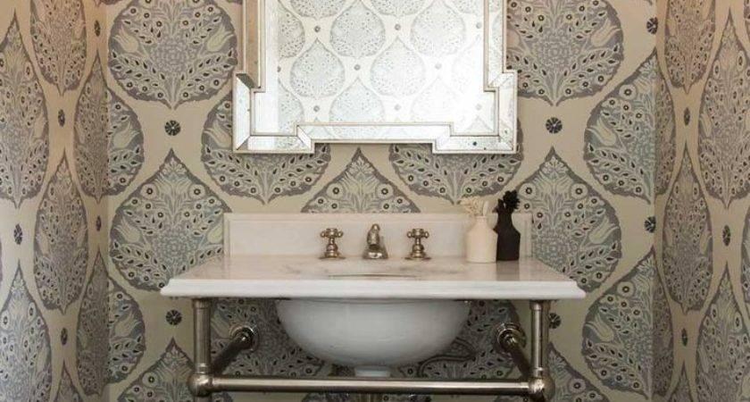Gorgeous Wallpapered Bathrooms
