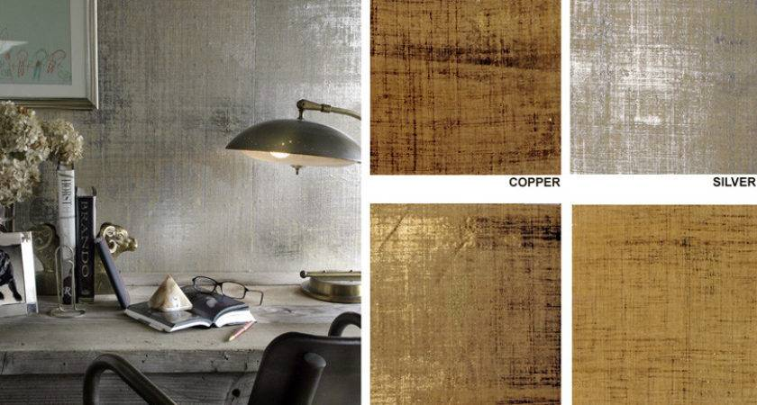 Grass Wallcovering Metallic Grasscloth