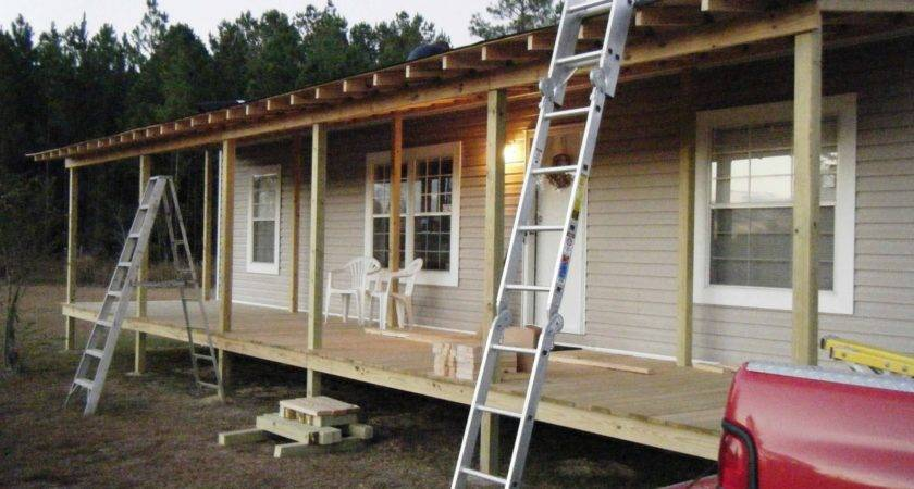 Gravy Front Porch Being Built Onto Double Design
