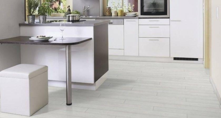 Gray Laminate Flooring Kitchen