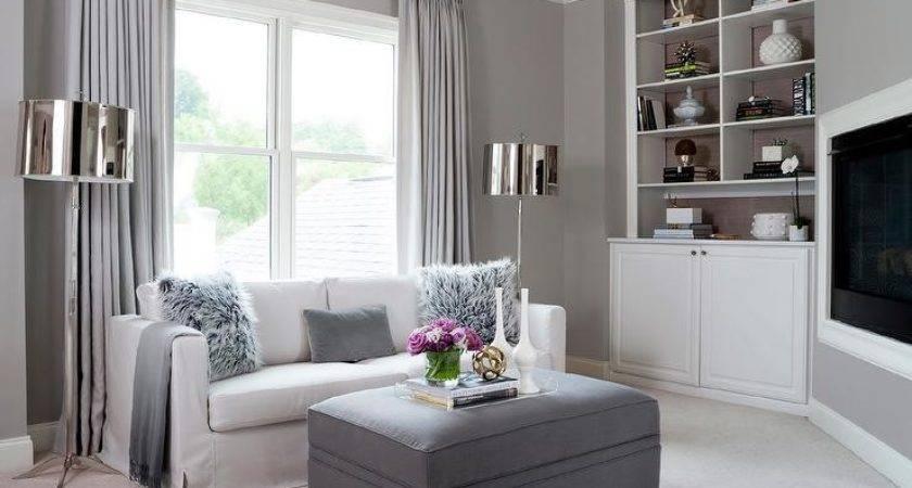 Gray Living Room Corner Niche Contemporary