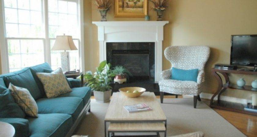 Great Sofa Placement Around Corner Fireplace Ideas