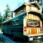 Green Cedar Bus Tiny House Swoon