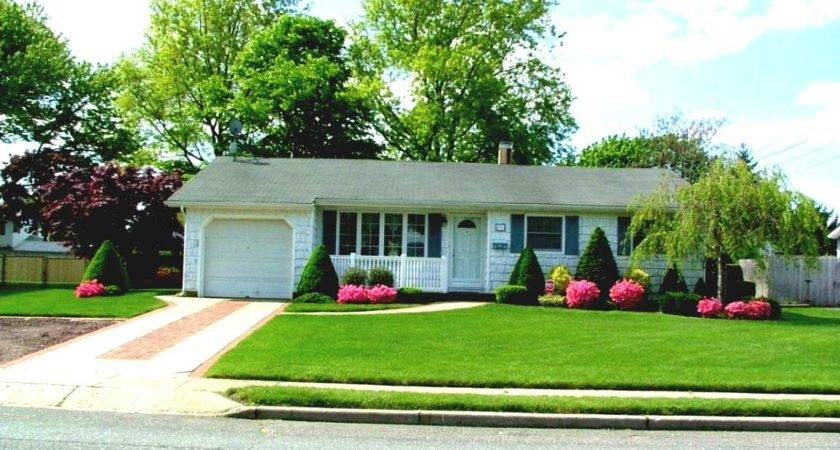 Green Front Yard Landscaping Ideas Ranch House