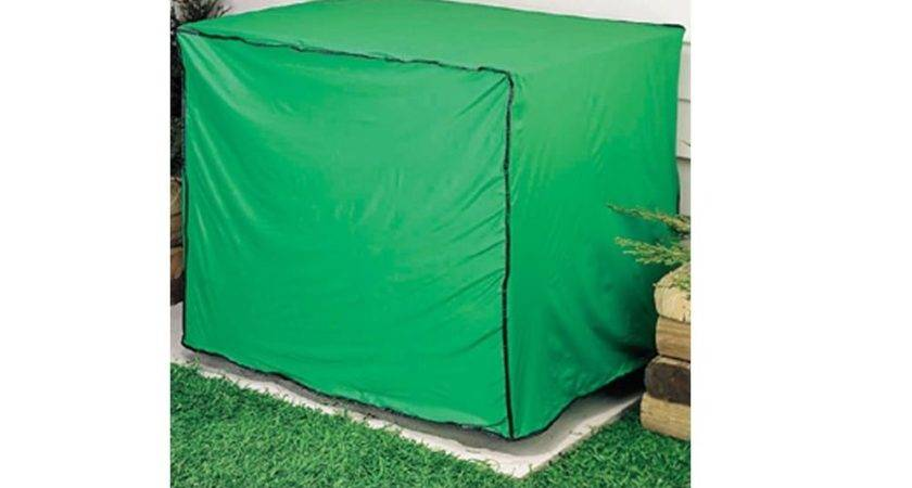 Green Vinyl Condensing Unit Cover Protect Central Air