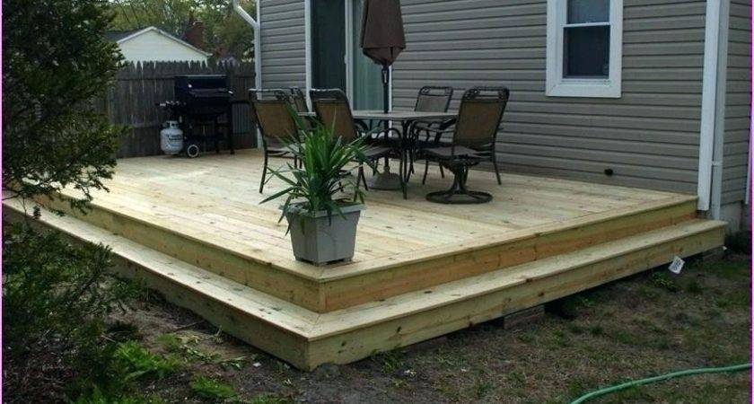 Ground Level Deck Plans Mobile Home Best