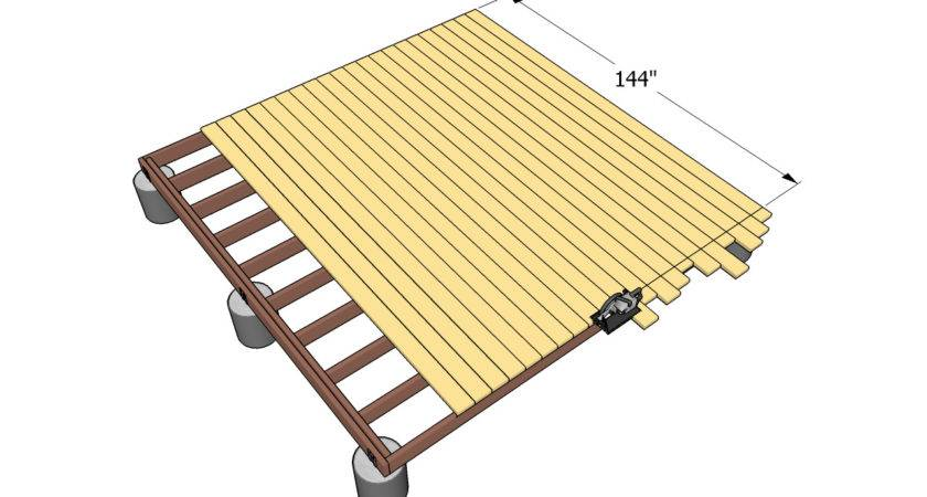 Ground Level Deck Plans Outdoor Diy Shed