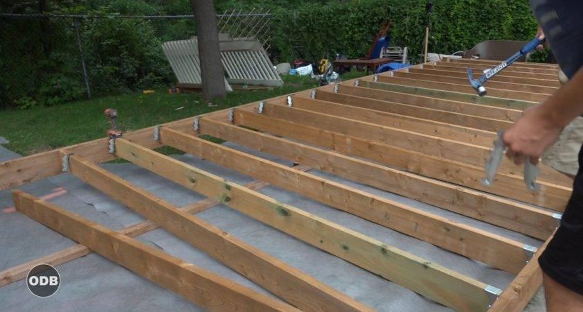 Ground Level Wood Patio