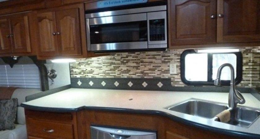Gypsy Turtles Motorhome Mod New Kitchen Backsplash