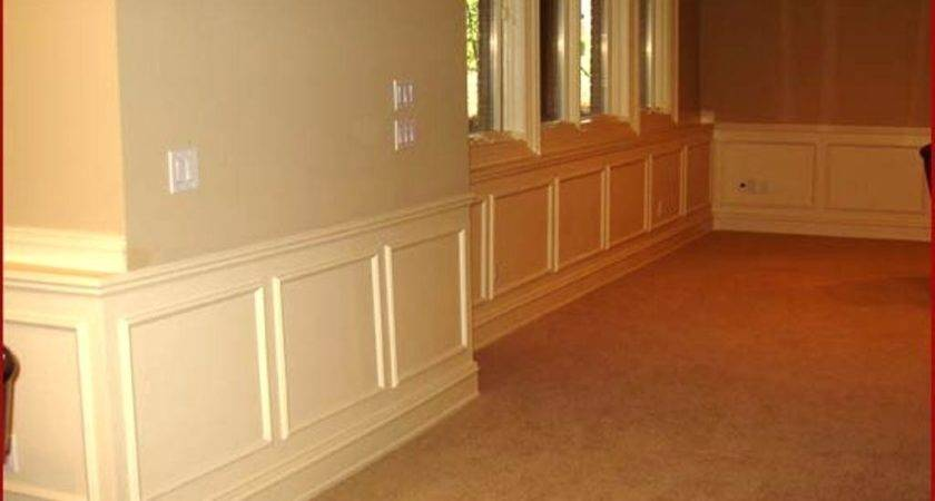 Half Wall Paneling Stunning Powder Room Batten