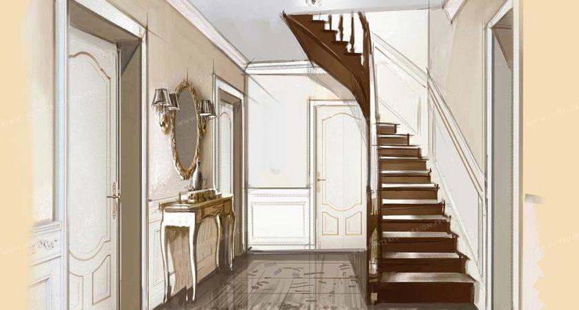 Hallway Interior Design Visualisations Hall