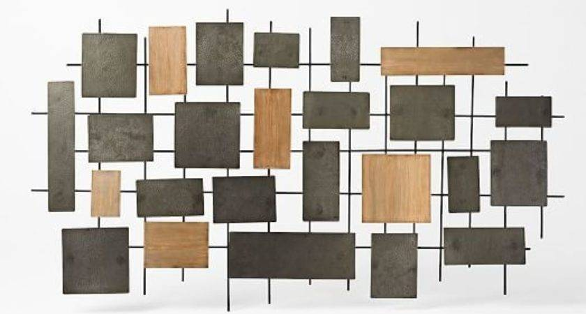 Hammered Metal Wood Wall Art West Elm