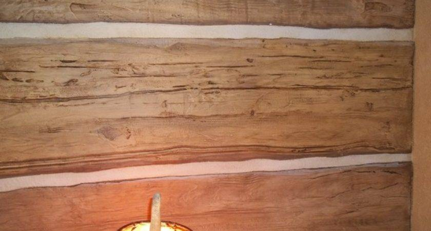 Hand Carved Faux Log Wall Rustic Other Beautiful