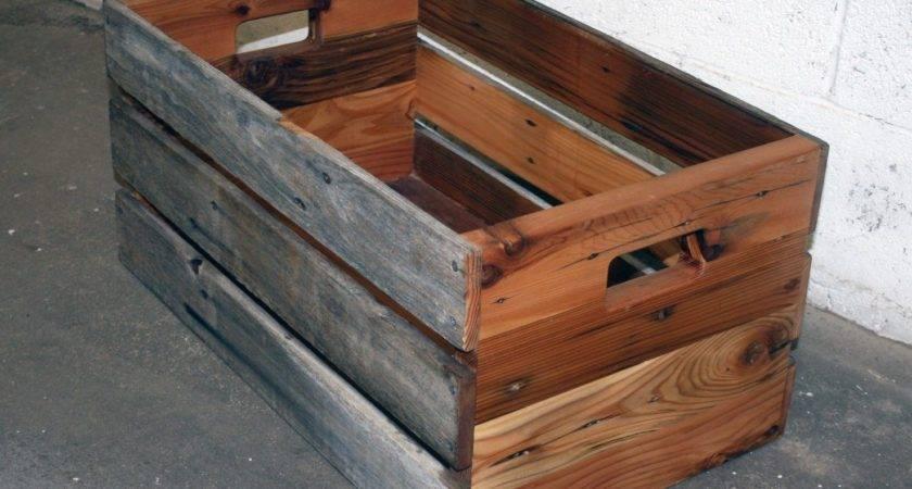 Hand Made Barn Wood Reclaimed Cedar Crate