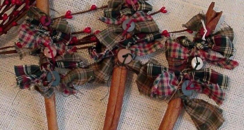Handmade Primitive Christmas Ornaments Bing
