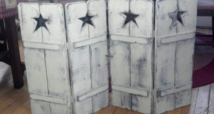 Handmade Primitive Star Tall Shutters Prophetbros