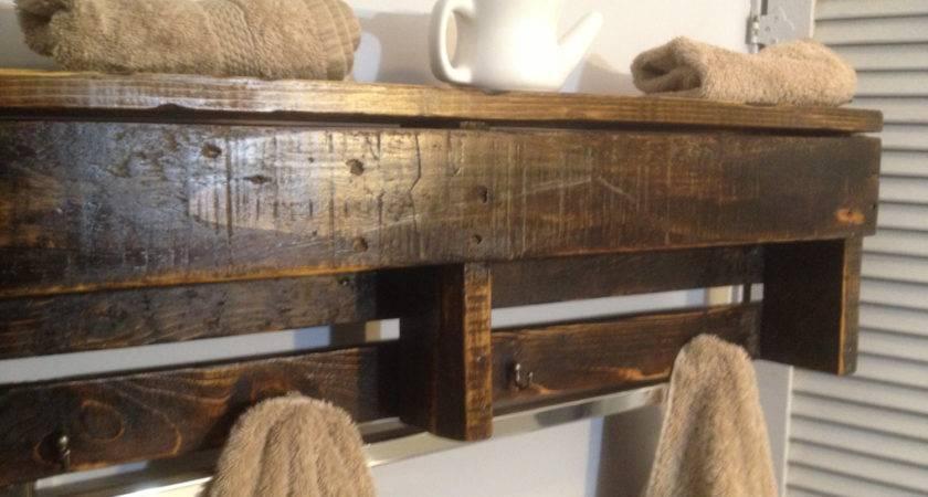 Handmade Reclaimed Pallet Wood Shelf Organizer Coat