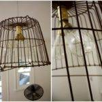 Hanging Wire Basket Light Fixture